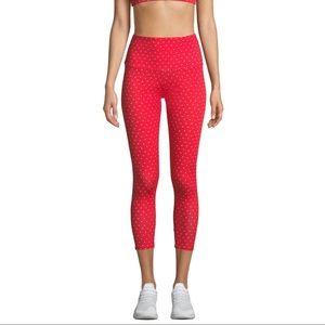 ONZIE Red leggings with white hearts
